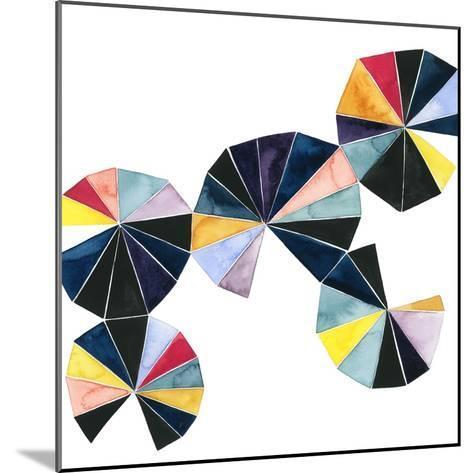 Pinwheel Bright I-Grace Popp-Mounted Art Print