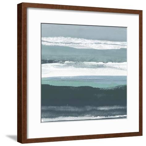 Teal Sea II-Rob Delamater-Framed Art Print