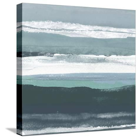 Teal Sea II-Rob Delamater-Stretched Canvas Print