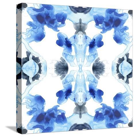Blue Kaleidoscope IV-June Vess-Stretched Canvas Print
