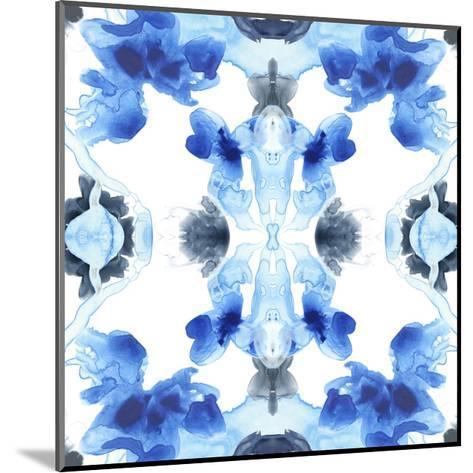 Blue Kaleidoscope IV-June Vess-Mounted Art Print