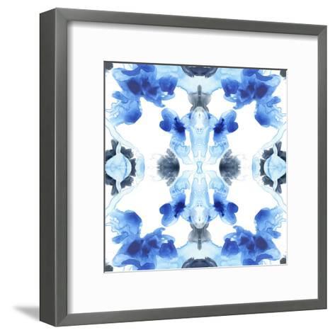 Blue Kaleidoscope IV-June Vess-Framed Art Print