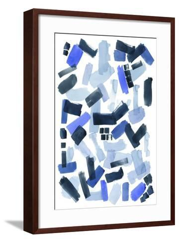Cerulean Strokes I-Grace Popp-Framed Art Print