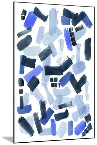 Cerulean Strokes I-Grace Popp-Mounted Art Print