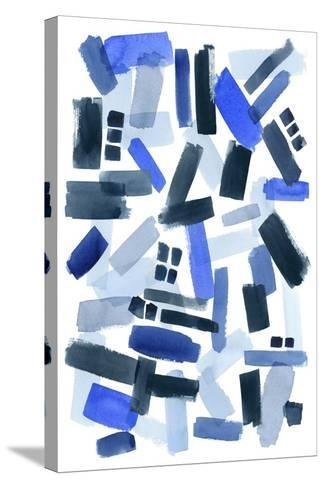 Cerulean Strokes II-Grace Popp-Stretched Canvas Print
