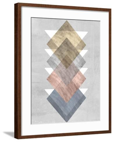 Diamond Allign I-Jennifer Goldberger-Framed Art Print