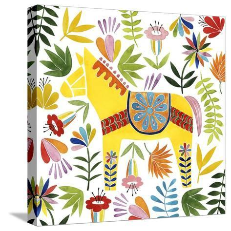 Festive Otomi III-Grace Popp-Stretched Canvas Print