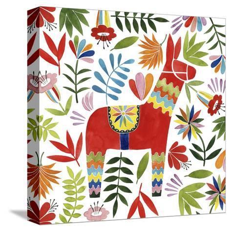 Festive Otomi II-Grace Popp-Stretched Canvas Print