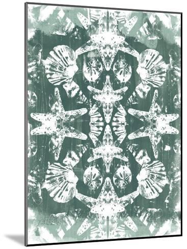 Sea Green Kaleidoscope I-June Vess-Mounted Art Print
