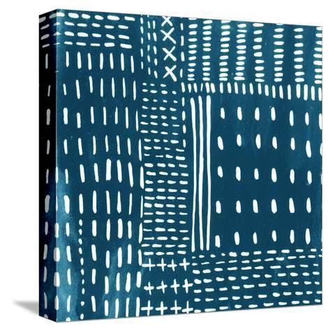 Sashiko Stitches III-Chariklia Zarris-Stretched Canvas Print