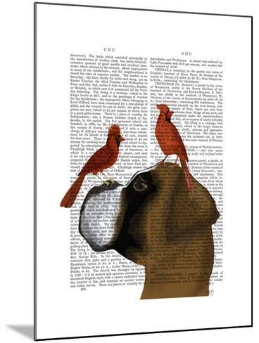 Boxer and Red Cardinals-Fab Funky-Mounted Art Print