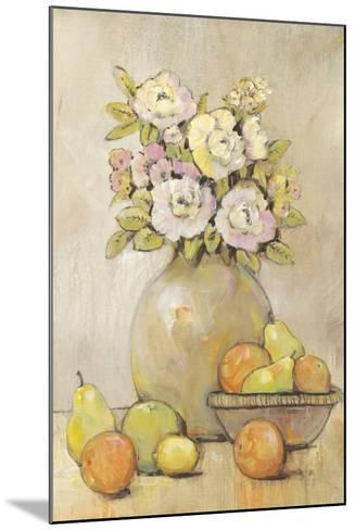 Still Life Study Flowers & Fruit II-Tim OToole-Mounted Art Print