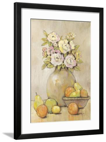 Still Life Study Flowers & Fruit II-Tim OToole-Framed Art Print