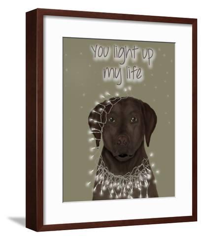 Chocolate Labrador, You Light Up-Fab Funky-Framed Art Print