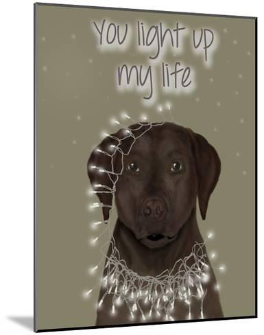 Chocolate Labrador, You Light Up-Fab Funky-Mounted Art Print