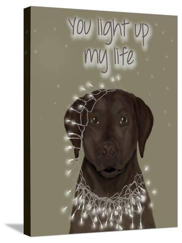 Chocolate Labrador, You Light Up-Fab Funky-Stretched Canvas Print