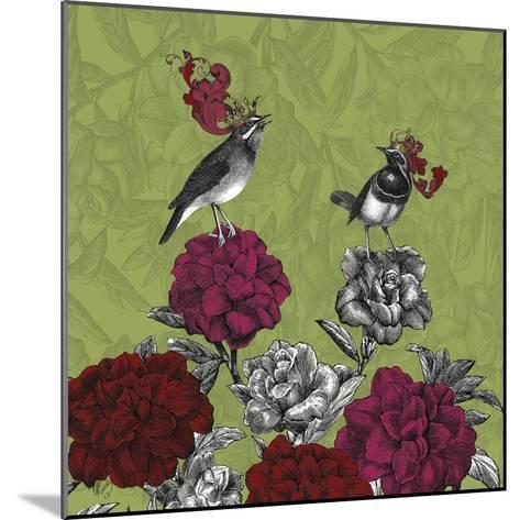 Blooming Birds, Rhododendron, Fine Art Print-Fab Funky-Mounted Art Print