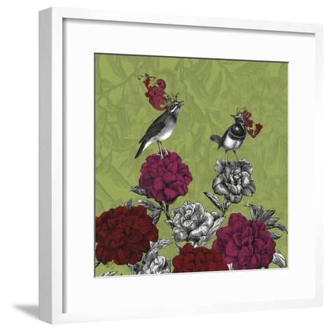Blooming Birds, Rhododendron, Fine Art Print-Fab Funky-Framed Art Print
