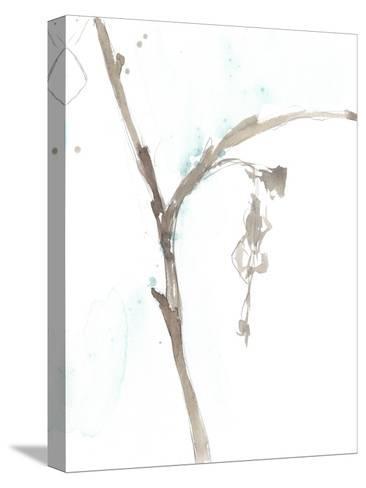 Ginkgo on Dusty Teal VIII-Jennifer Goldberger-Stretched Canvas Print