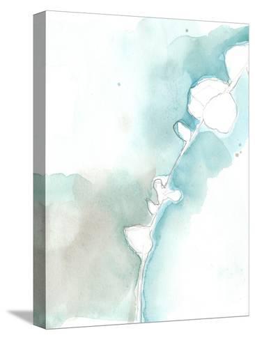 Ginkgo on Dusty Teal VII-Jennifer Goldberger-Stretched Canvas Print