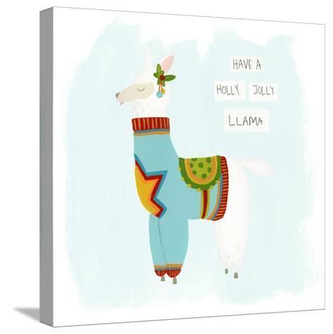 Fa-la-la-la Llama IV-June Vess-Stretched Canvas Print