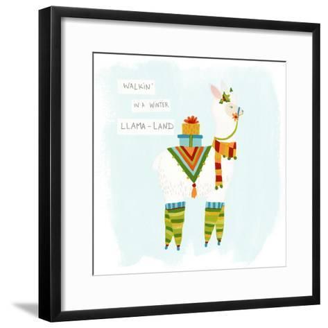 Fa-la-la-la Llama II-June Vess-Framed Art Print