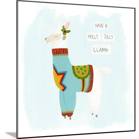Fa-la-la-la Llama IV-June Vess-Mounted Art Print
