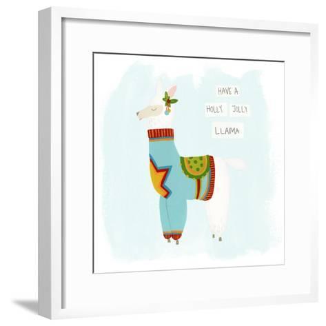 Fa-la-la-la Llama IV-June Vess-Framed Art Print