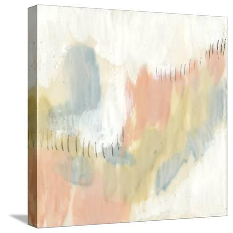 Stitched Pastels I-Jennifer Goldberger-Stretched Canvas Print