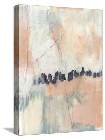 Blush & Navy II-Jennifer Goldberger-Stretched Canvas Print
