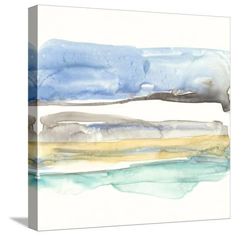 Mountains to Sea V-Jennifer Goldberger-Stretched Canvas Print