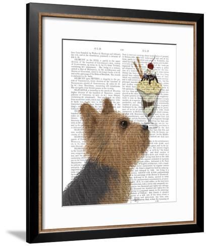 Yorkshire Terrier Ice Cream-Fab Funky-Framed Art Print