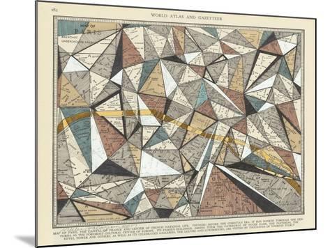 Modern Map of Paris-Nikki Galapon-Mounted Art Print