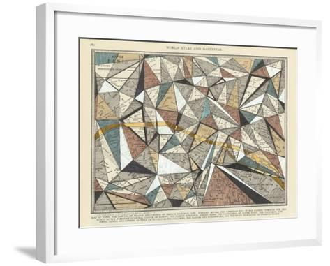 Modern Map of Paris-Nikki Galapon-Framed Art Print