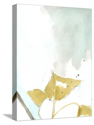 Ginkgo on Dusty Teal III-Jennifer Goldberger-Stretched Canvas Print