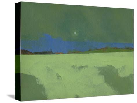 Green Moon Rising-Paul Bailey-Stretched Canvas Print