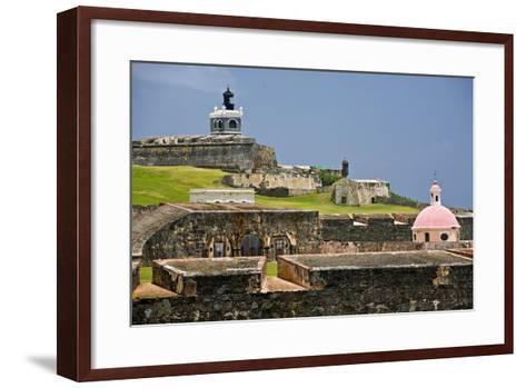 El Morros Defense, Old San Juan, Puerto Rico-George Oze-Framed Art Print