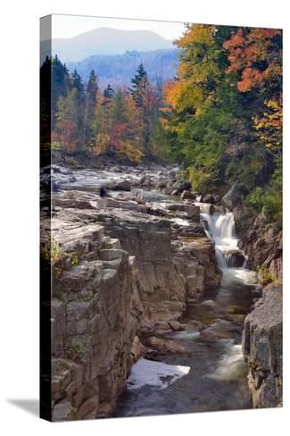 Rocky Creek Gorge, White Mountains, New Hampshire-George Oze-Stretched Canvas Print
