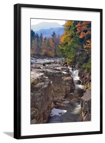 Rocky Creek Gorge, White Mountains, New Hampshire-George Oze-Framed Art Print