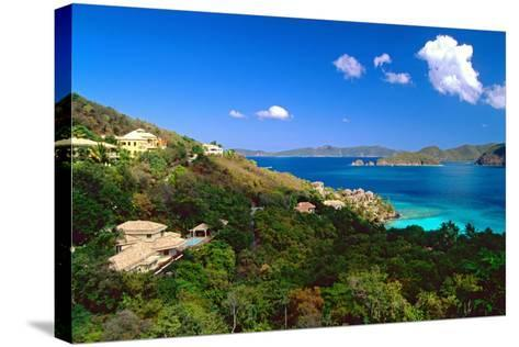 Villas with a View, St John, US Virgin Islands-George Oze-Stretched Canvas Print