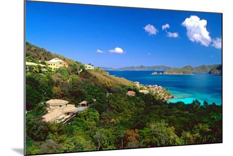 Villas with a View, St John, US Virgin Islands-George Oze-Mounted Photographic Print