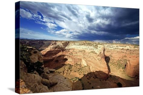 Ominous Sky, Canyon De Chelly, Arizona-George Oze-Stretched Canvas Print