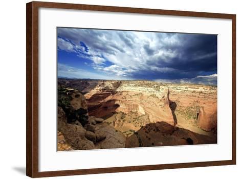 Ominous Sky, Canyon De Chelly, Arizona-George Oze-Framed Art Print
