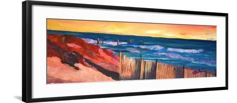 Long Island Beach Scene - Hamptons Beach Walk-Markus Bleichner-Framed Art Print