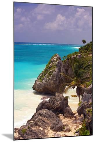 Rocky Cove, Tulum Beach, Yucatan, Mexico-George Oze-Mounted Photographic Print