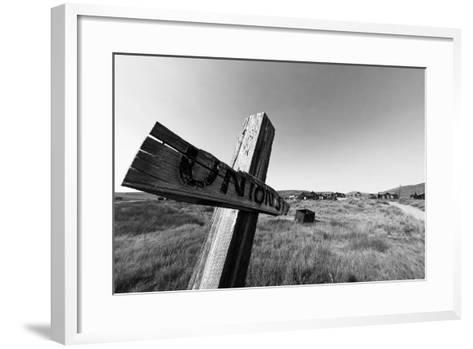 Ghost Town Street Sign, Bodie, California-George Oze-Framed Art Print