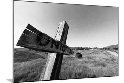 Ghost Town Street Sign, Bodie, California-George Oze-Mounted Photographic Print