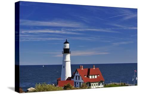 Portland Head Lighthouse Cape Elizabeth Maine-George Oze-Stretched Canvas Print