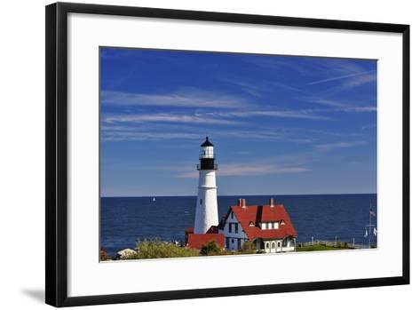 Portland Head Lighthouse Cape Elizabeth Maine-George Oze-Framed Art Print