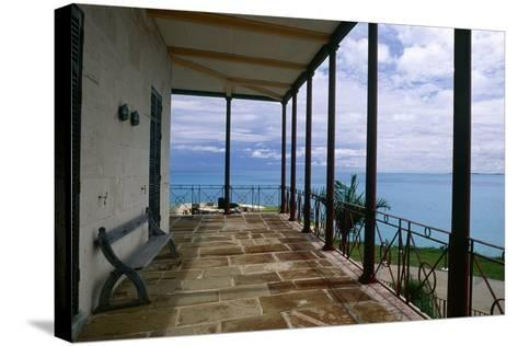 Balcony View, Commissioner House, Bermuda-George Oze-Stretched Canvas Print